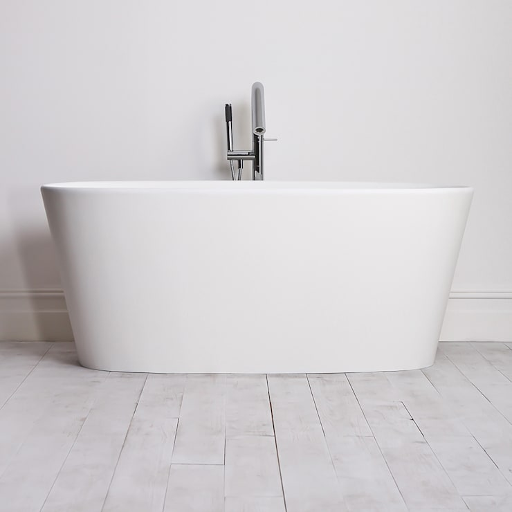 Lusso Stone oval Stone Resin Solid Surface Freestanding Bath 1580:  Bathroom by Lusso Stone