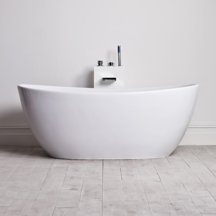 Lusso Stone Soho Stone Resin Solid Surface Freestanding Bath 1630:  Bathroom by Lusso Stone