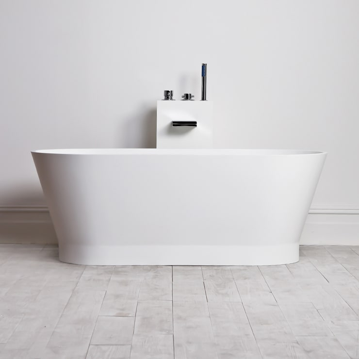 Lusso Stone Marlborough Stone Resin Solid Surface Freestanding Bath 1500:  Bathroom by Lusso Stone