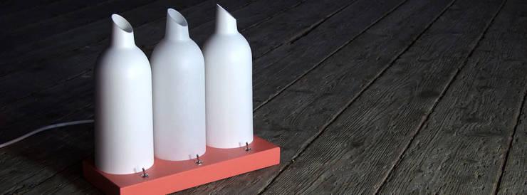 Lampe de table TRI-L: Chambre de style  par La Fable
