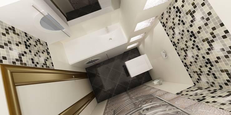 Квартира на Четаева: Ванные комнаты в . Автор – Евгения Габитова