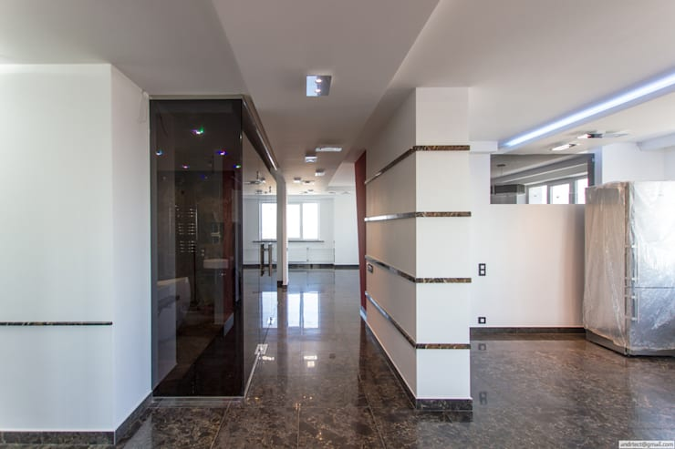 Каменное СПА: Гостиная в . Автор – Andrey Gulyaev Architects