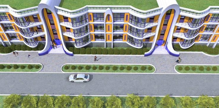 Трех этажный 60 квартирный жилой дом:  в . Автор – Проектная группа «Портал»