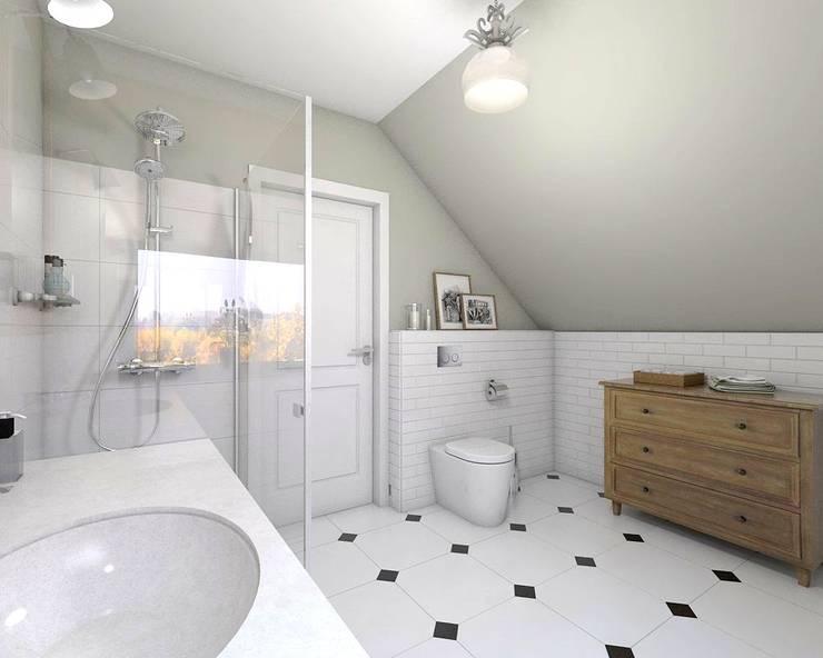 łazienka: styl , w kategorii  zaprojektowany przez atoato,Klasyczny