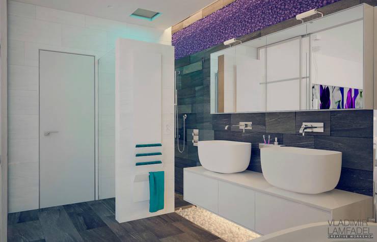 Villa Molveno: Ванные комнаты в . Автор – Laboratorio Creativo di Vladimir Lamfadel