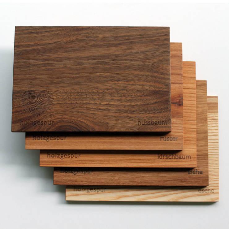Echtholz? Natürlich! Kostenfrei Holzmuster anfordern: moderne Esszimmer von holzgespür