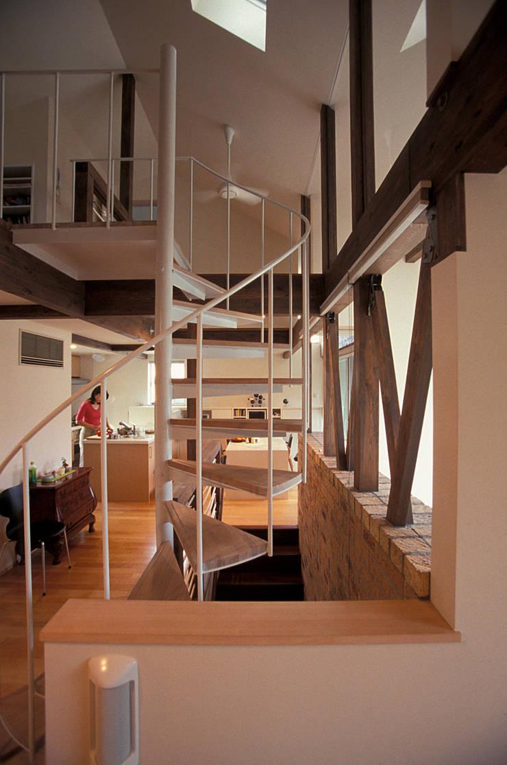 らせん階段: ジェイ石田アソシエイツが手掛けた廊下 & 玄関です。,北欧