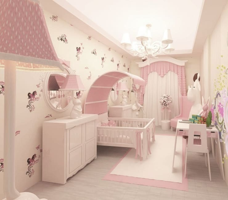 غرفة الاطفال تنفيذ Meral Akçay Konsept ve Mimarlık