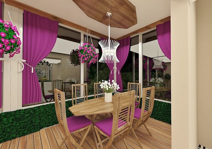 Salas de jantar  por Meral Akçay Konsept ve Mimarlık