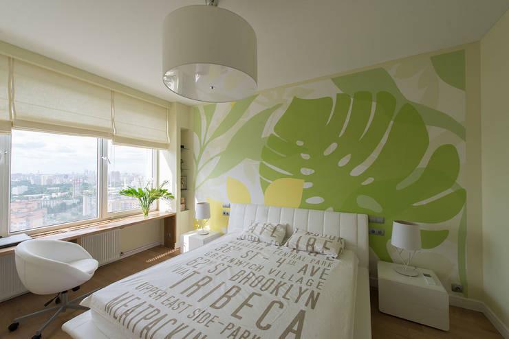 Яркий минимализм: Спальни в . Автор – D&T Architects