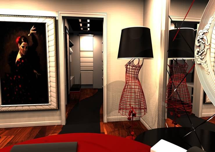 Meral Akçay Konsept ve Mimarlık – Feng Shui Uygulama: modern tarz Giyinme Odası