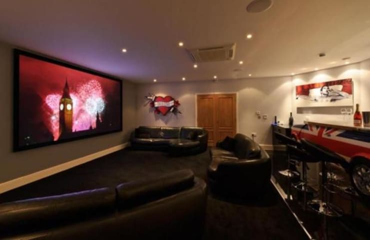 Multimedia room by Flairlight Designs Ltd