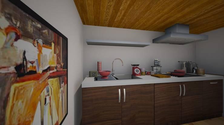 EFFICIENZA  IN POCO SPAZIO: Cucina in stile in stile Eclettico di TOBEHOME INTERIORS