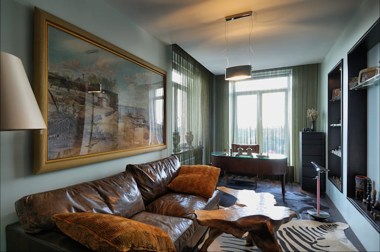 Квартира Мити Фомина: Гостиная в . Автор – Студия дизайна  интерьера Лелы Кавтарадзе