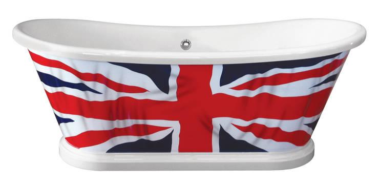 The Flag Bath:  Bathroom by BC Designs