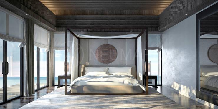 Интерьеры отеля Sabah Al-Ahmad  Khiran Сhalet в Кувейте: Спальни в . Автор – Марина Анисович, студия NEUMARK