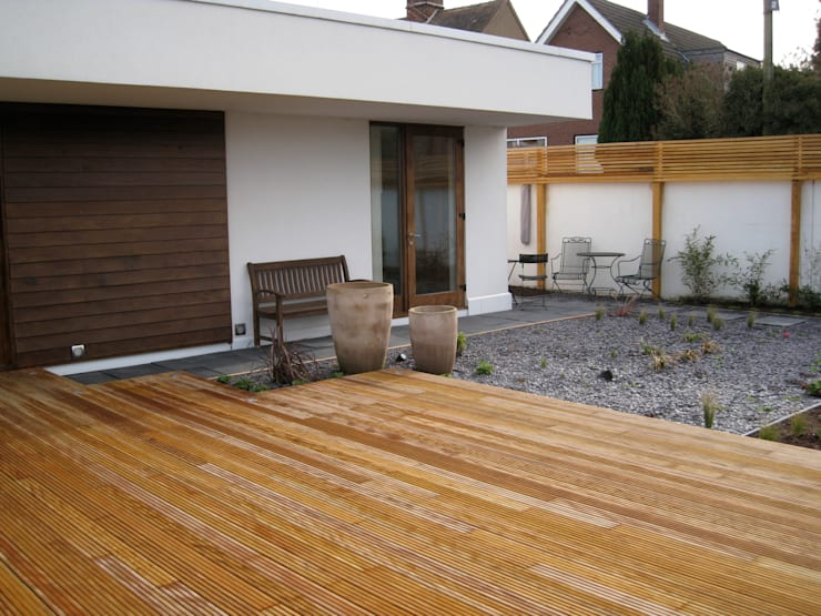 Roof Deck / Decking:  Terrace by Unique Landscapes