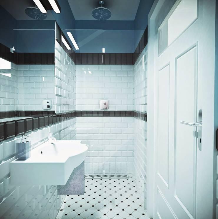 łazienka: styl , w kategorii  zaprojektowany przez atoato,