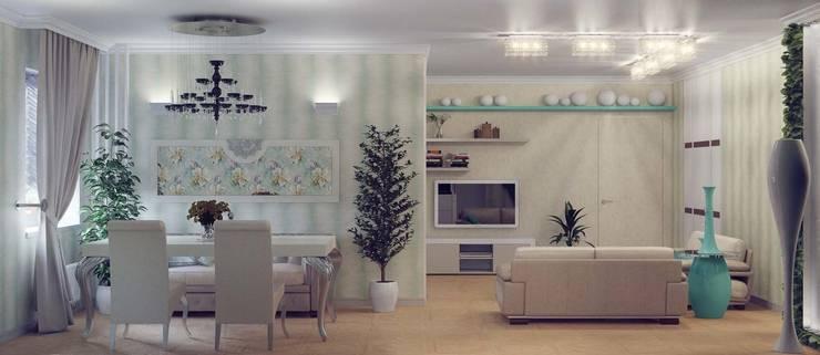 Бирюзовое очарование: Столовые комнаты в . Автор – Студия дизайна интерьера 'Золотое сечение'