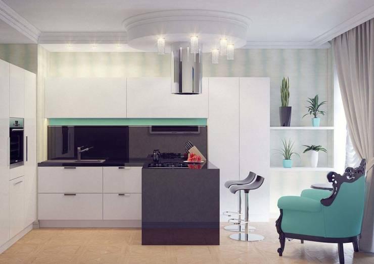 Cocinas de estilo moderno por Студия дизайна интерьера 'Золотое сечение'