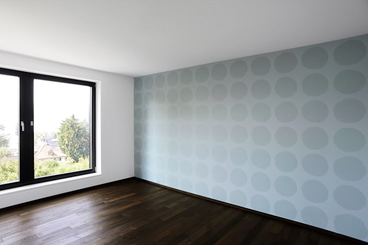 Haus Tschannen Faes, Erlenbach, Schlafzimmer:  Schlafzimmer von Andreas Müller Architekten