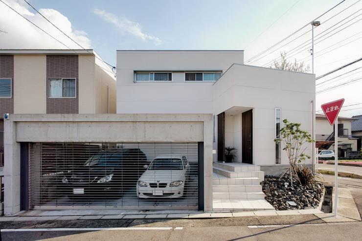 外観(北面): H建築スタジオが手掛けた家です。