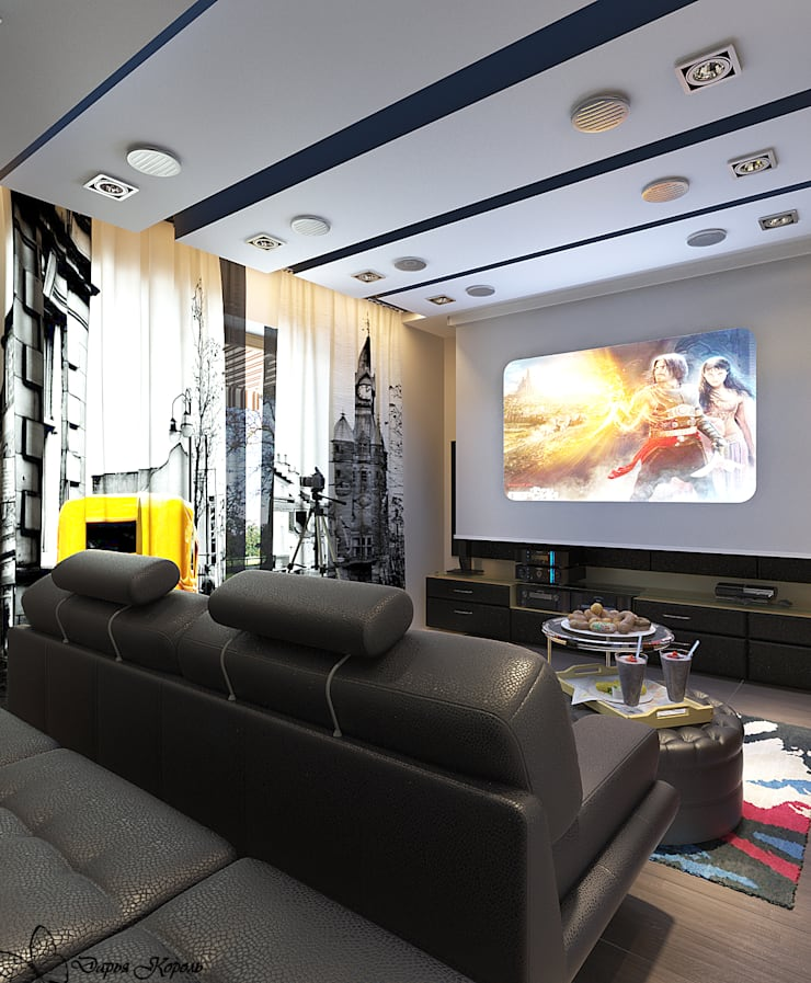 home Theater: Медиа комнаты в . Автор – Your royal design
