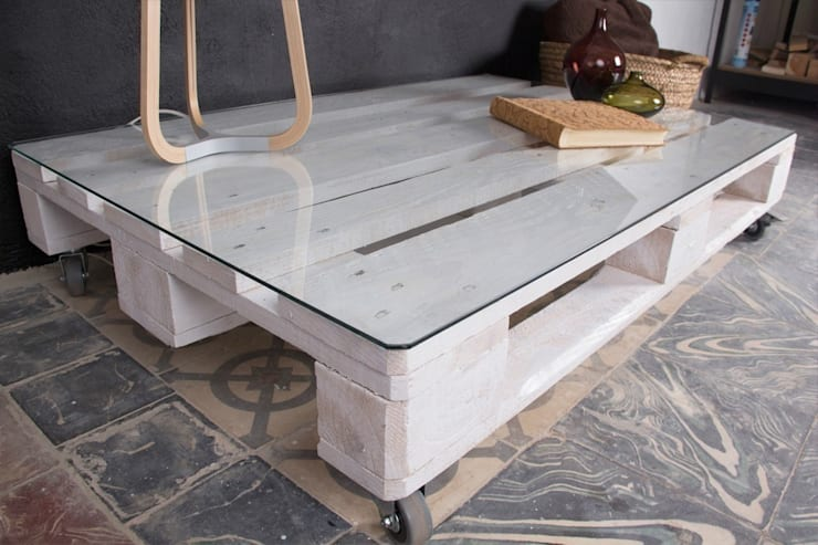 MULHACÉN mesa palets. 120x80cm, 1 altura: Hogar de estilo  de ECOdECO Mobiliario