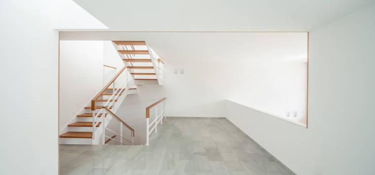 Casa CP: Pasillos y vestíbulos de estilo  de Alventosa Morell Arquitectes