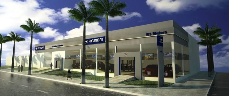 Hyundai R3 Motors: Concessionárias  por Rafaela Dal'Maso Arquitetura,