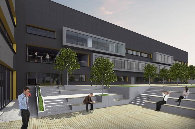 HATIRLI Mimarlık Ltd. Şti. – Fabrikadan Ofise Dönüşüm Projesi:  tarz Ofis Alanları