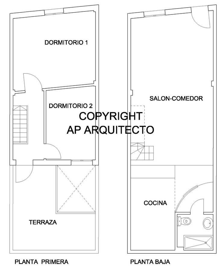 Planos:  de estilo  de AP Arquitecto