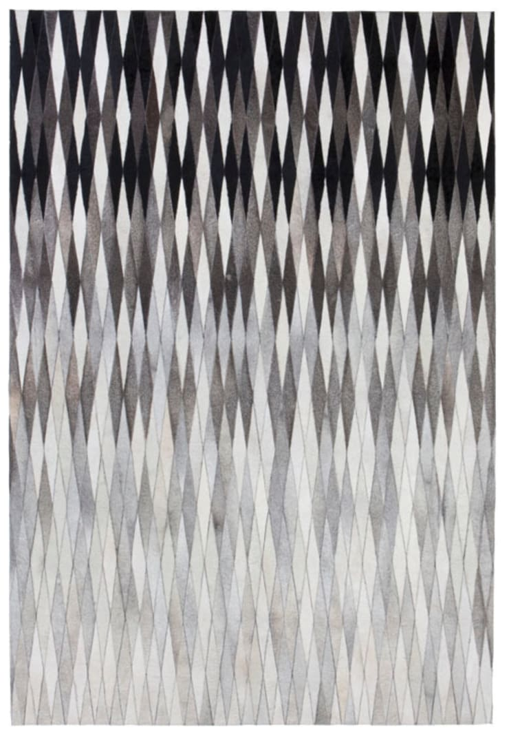 WovenGround Dynasty hand made leather rug - grey:  Walls & flooring by WovenGround