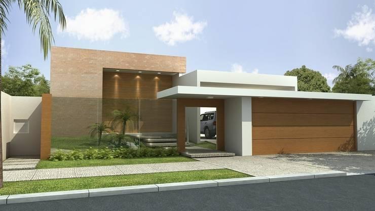 Fachada: Casas modernas por Rafaela Dal'Maso Arquitetura