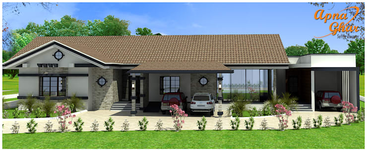 Farmhouse Design:   by ApnaGhar.co.in