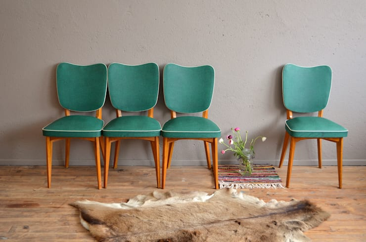 """Chaises vintage """"Paloma"""": Cuisine de style de style Scandinave par Atelier Belle Lurette"""