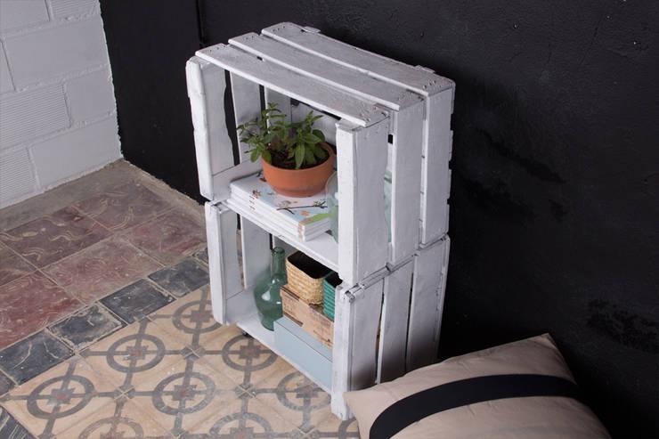 MORERA estantería cajas de fruta. 2 Cajas.: Hogar de estilo  de ECOdECO Mobiliario