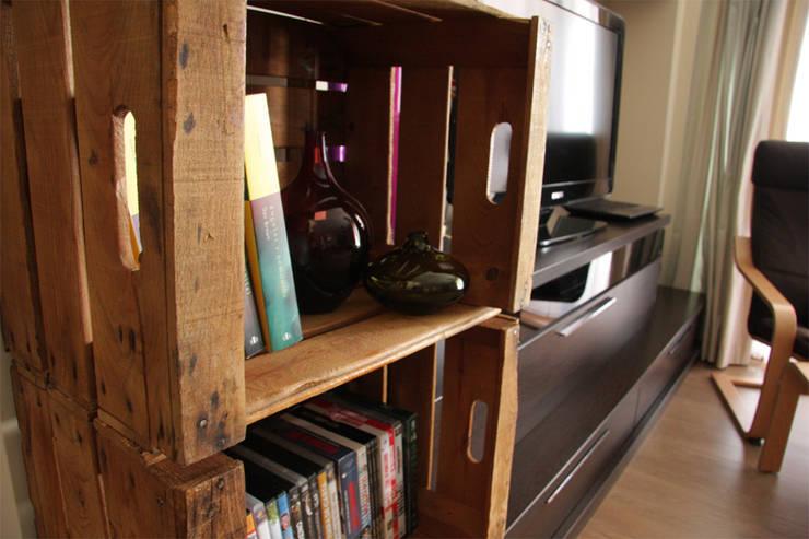 MORERA estantería cajas de fruta. 3 Cajas: Hogar de estilo  de ECOdECO Mobiliario
