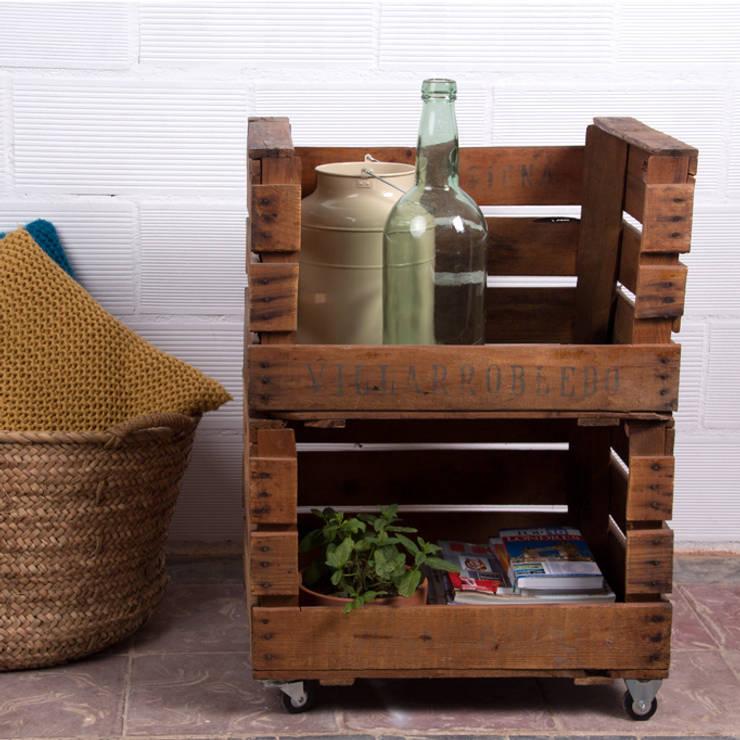 PALMITO estantería cajas de fruta. 2 Cajas: Hogar de estilo  de ECOdECO Mobiliario