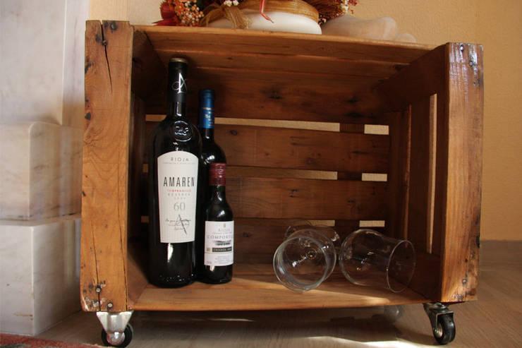 ABEDUL mesa cajas de fruta: Hogar de estilo  de ECOdECO Mobiliario