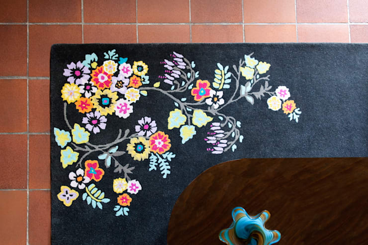 Chinese Deco rug by Wendy Morrison:  Walls & flooring by Wendy Morrison