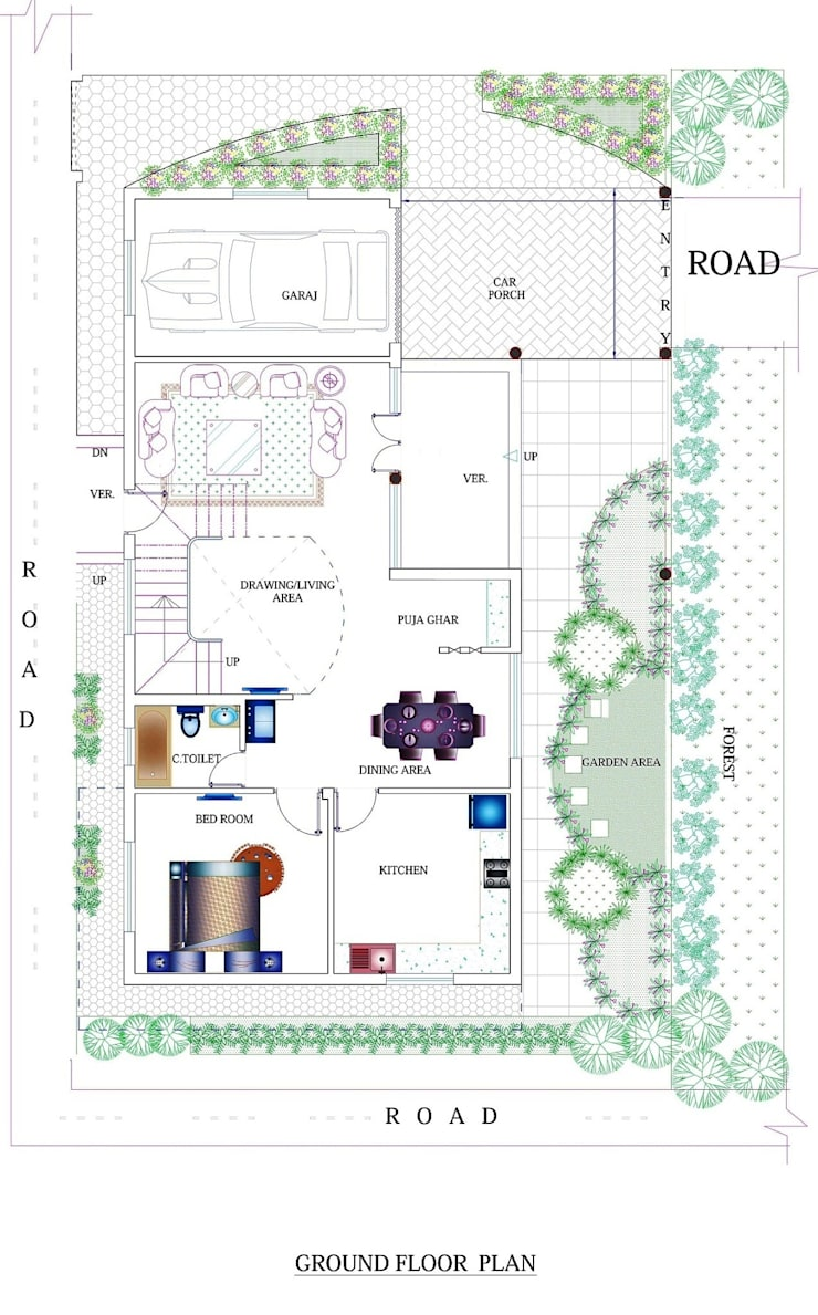 Duplex House Plan:   by ApnaGhar.co.in