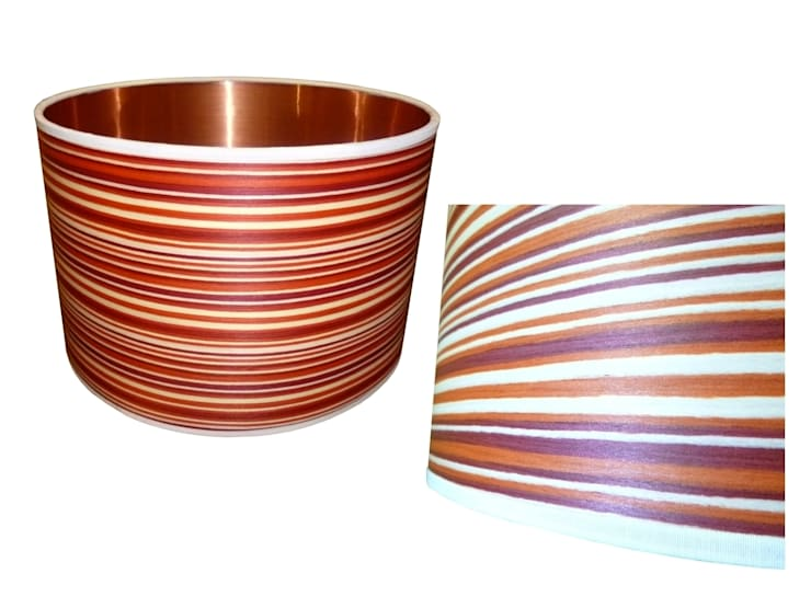 Candy stripe wood veneer drum lampshade from Storm Furniture:  Living room by Storm Furniture