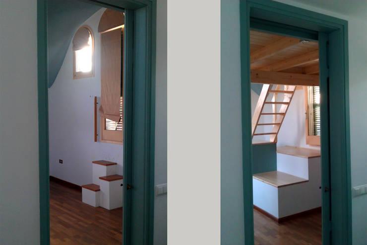 Vista desde la entrada: Salones de estilo  de mobla manufactured architecture scp