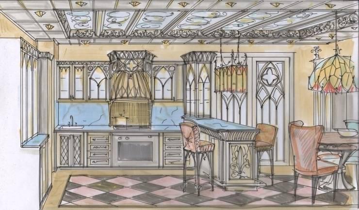 Эскиз кухни от Студия Анны Куликовой и Павла Миронова