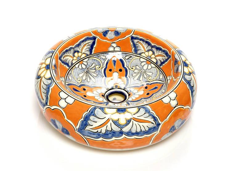 Amalia: styl , w kategorii Łazienka zaprojektowany przez Kolory Meksyku