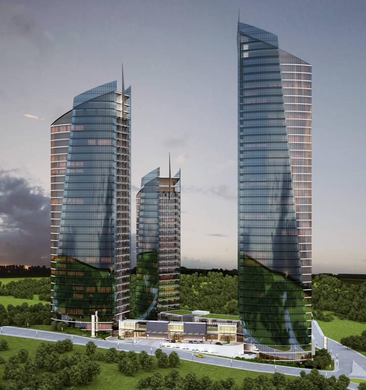 HATIRLI Mimarlık Ltd. Şti. – K2 Rezidansları: modern tarz Evler