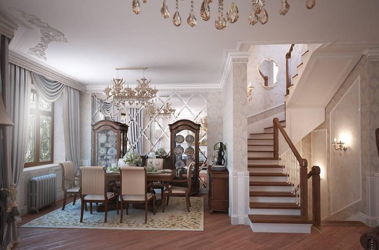 Дом с английскими мотивами: Столовые комнаты в . Автор – премиум интериум