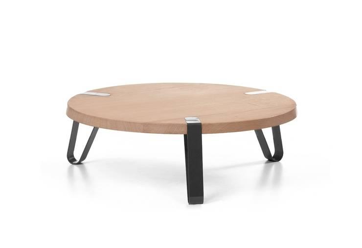 Level Zwart - Ø70cm - Hoogte 23cm : modern  door DesignStudioVandaag, Modern