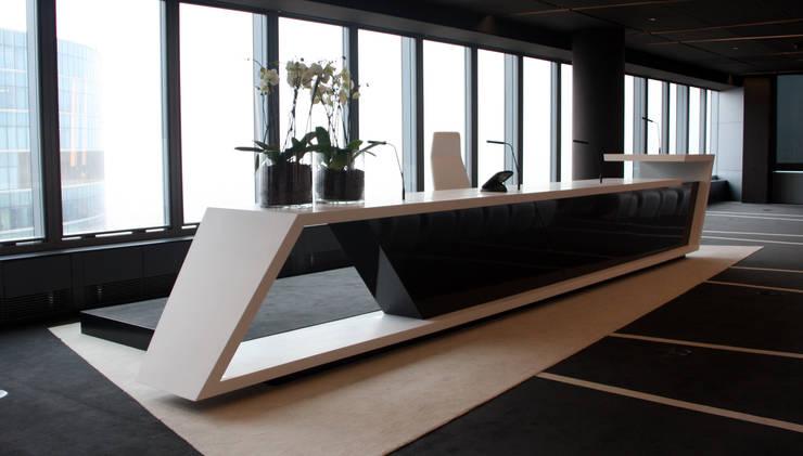 sala de conferencias: Oficinas y Tiendas de estilo  de CANDIDO HERMIDA N.M